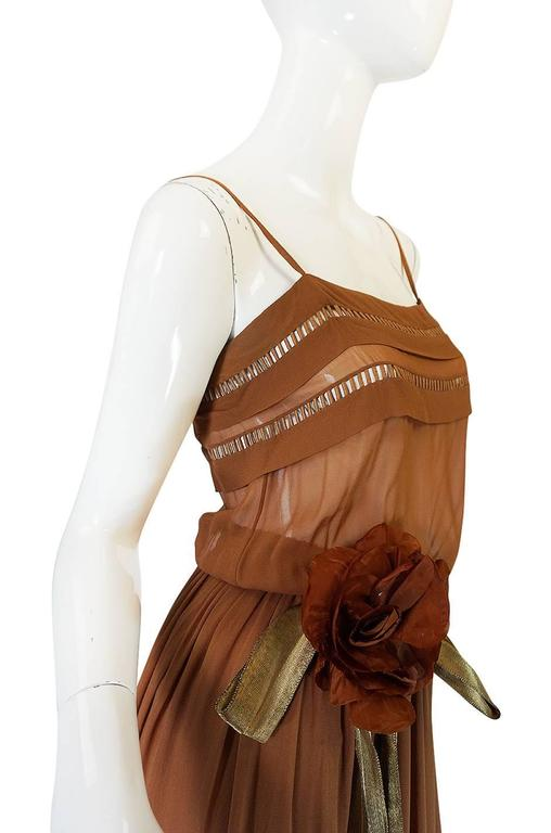 1978 Christian Dior Haute Couture Silk Dress with Belt 8