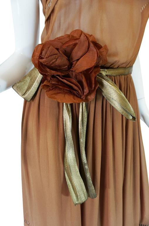 1978 Christian Dior Haute Couture Silk Dress with Belt 6