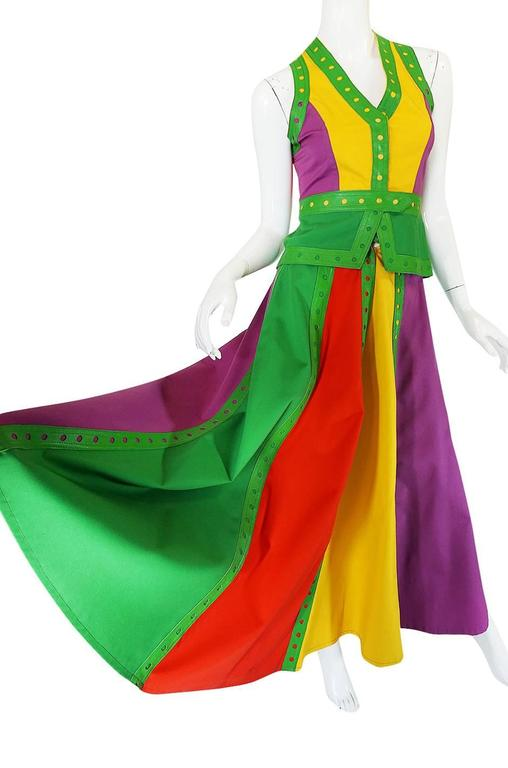 Women's c1974 Giorgio Sant' Angelo Leather Trim Skirt & Vest For Sale