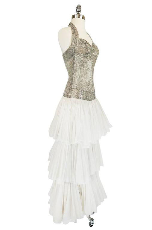 Women's Divine Late 1920s Hand Beaded & Silk Tulle Princess Gown For Sale