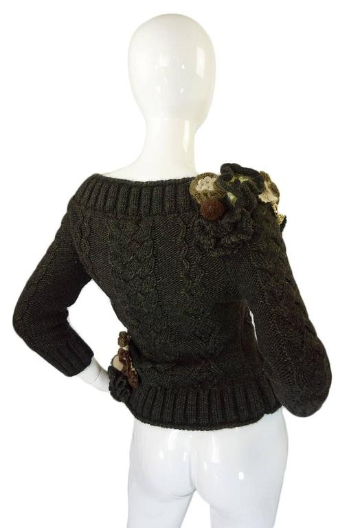 Black Rare F2005 Documented Runway Alexander McQueen Sweater For Sale
