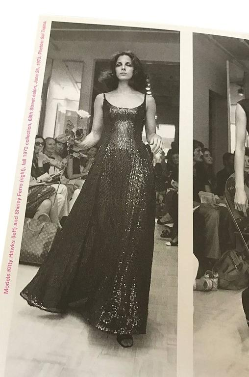 Halston Couture Glossy Black Sequin Evening Suit, circa 1973 For Sale 5