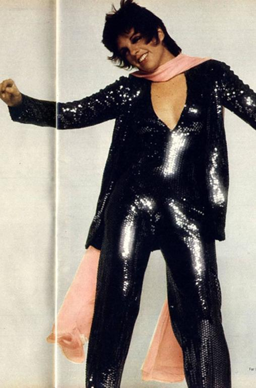 Halston Couture Glossy Black Sequin Evening Suit, circa 1973 For Sale 6