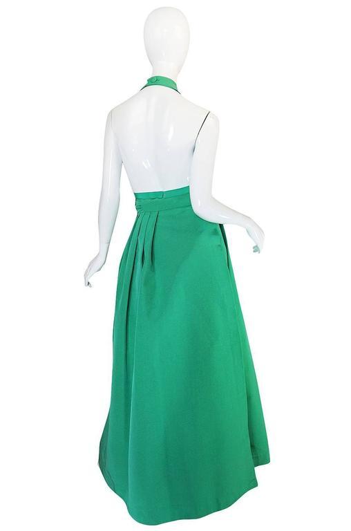 1960s Pauline Trigere Backless Structured Halter & Skirt Dress Set 2