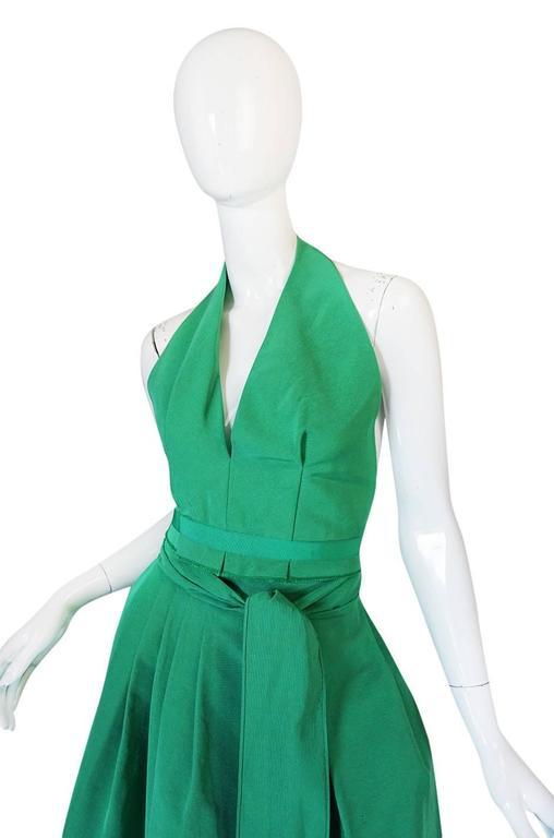 1960s Pauline Trigere Backless Structured Halter & Skirt Dress Set 4