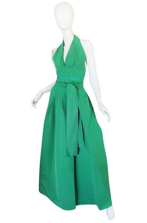 1960s Pauline Trigere Backless Structured Halter & Skirt Dress Set 3