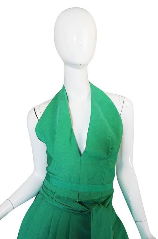 1960s Pauline Trigere Backless Structured Halter & Skirt Dress Set 6