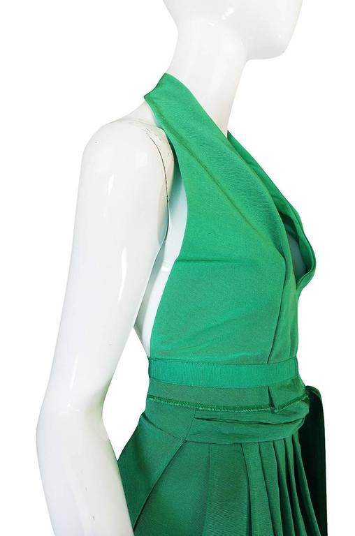1960s Pauline Trigere Backless Structured Halter & Skirt Dress Set 5