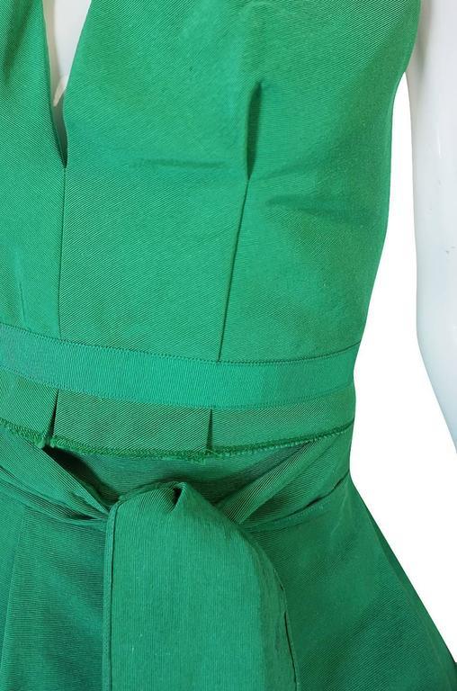 1960s Pauline Trigere Backless Structured Halter & Skirt Dress Set 9