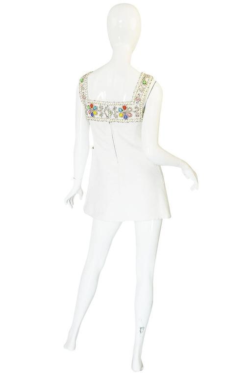 1960s Beni Salvadori Jewelled Couture Tunic or Mini Dress 2
