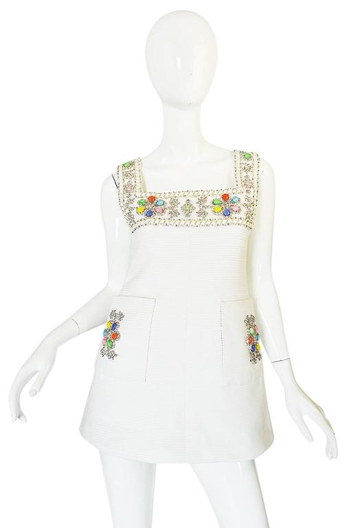 Women's 1960s Beni Salvadori Jewelled Couture Tunic or Mini Dress For Sale