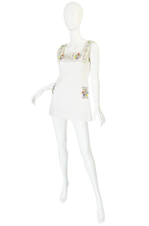1960s Beni Salvadori Jewelled Couture Tunic or Mini Dress 3