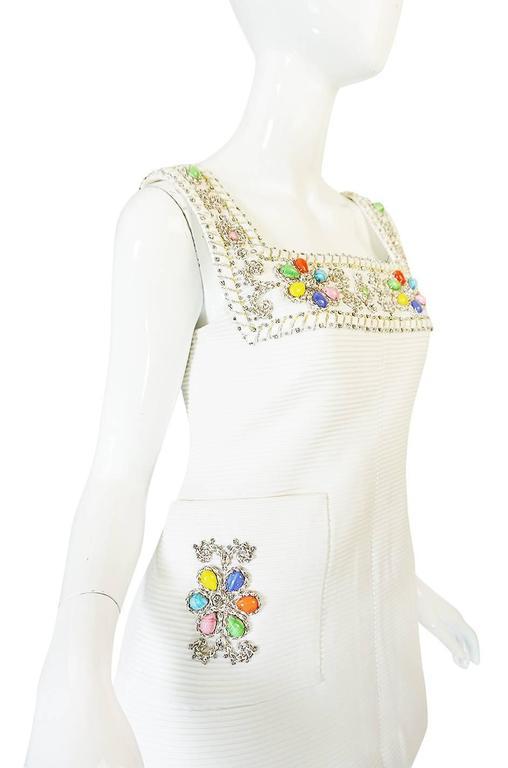 1960s Beni Salvadori Jewelled Couture Tunic or Mini Dress For Sale 1