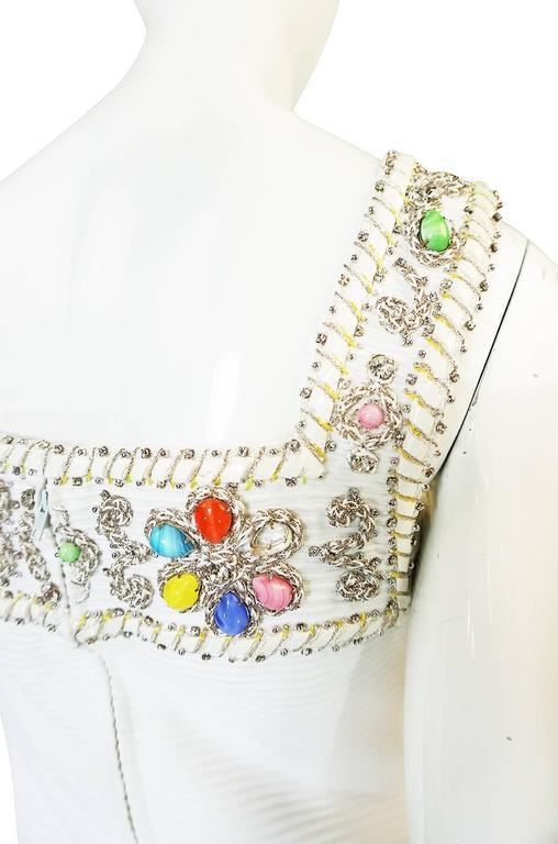 1960s Beni Salvadori Jewelled Couture Tunic or Mini Dress 7