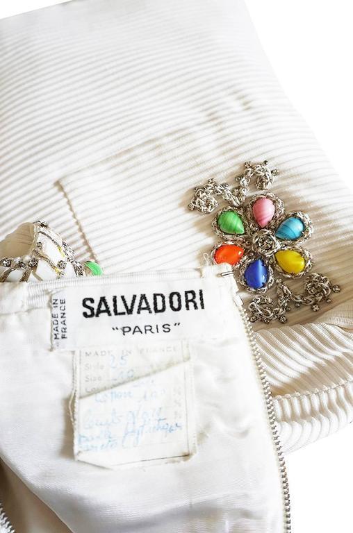 1960s Beni Salvadori Jewelled Couture Tunic or Mini Dress For Sale 5
