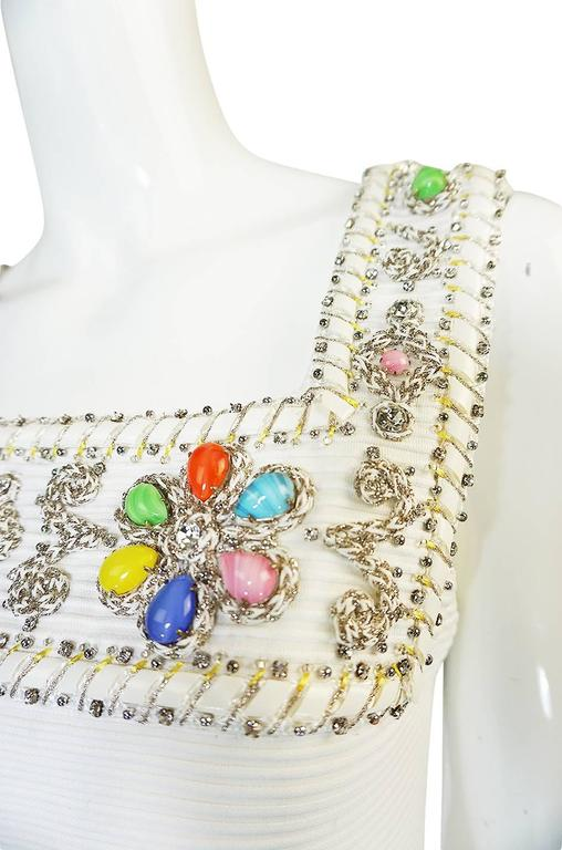 1960s Beni Salvadori Jewelled Couture Tunic or Mini Dress For Sale 4