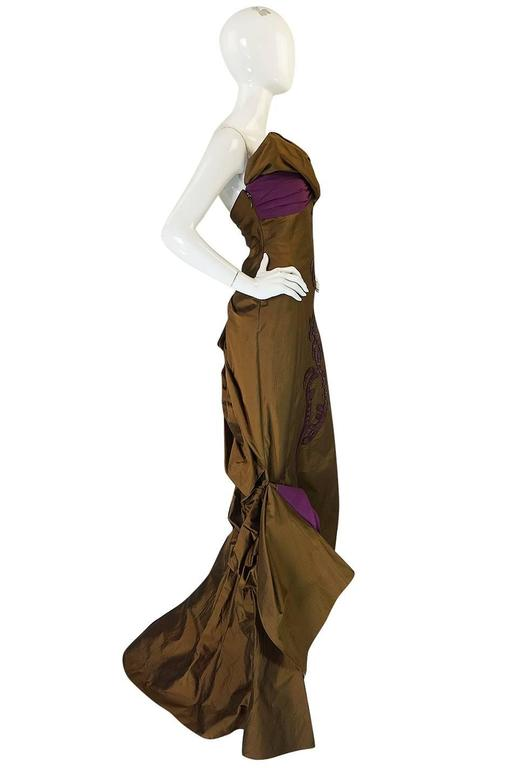 1980s Christian Lacroix Extraordinary Leather Detailed Dress 3
