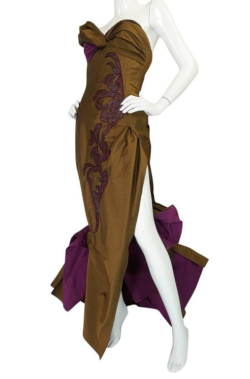 1980s Christian Lacroix Extraordinary Leather Detailed Dress 5