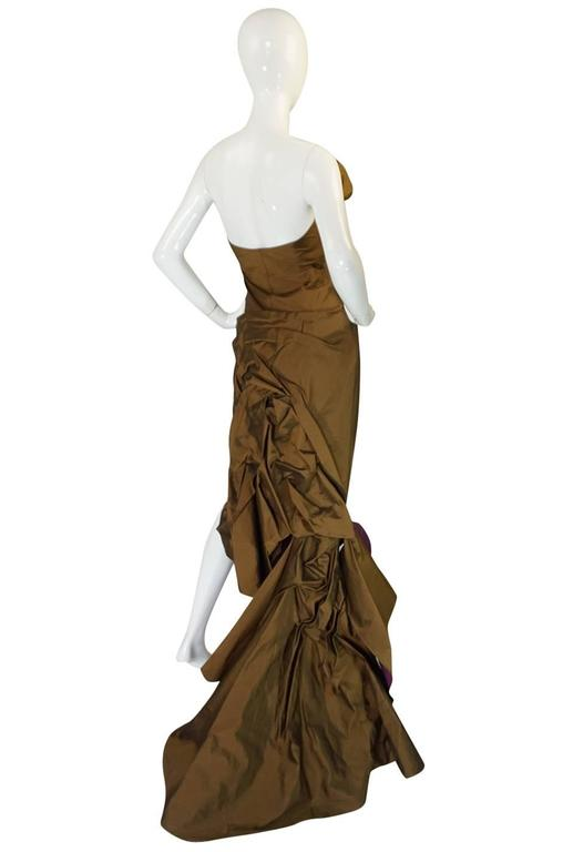 1980s Christian Lacroix Extraordinary Leather Detailed Dress 2