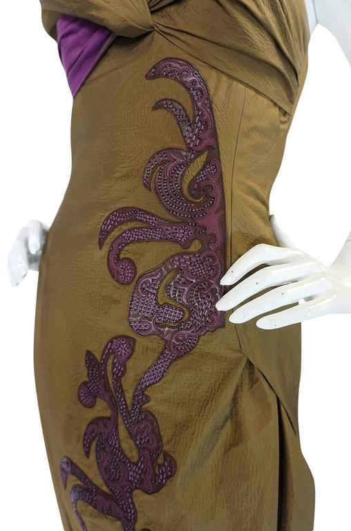 1980s Christian Lacroix Extraordinary Leather Detailed Dress 9