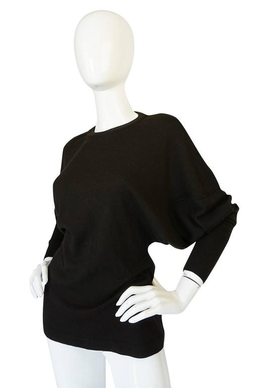 Black Rare 1980s Chocolate Azzedine Alaia Knit Sweater For Sale