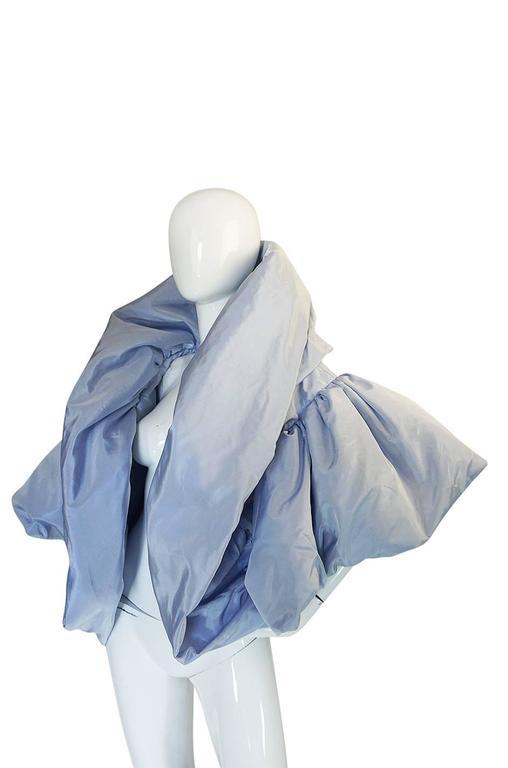 "1988 Bob Mackie Baby Blue Silk ""Domino"" Jacket 6"