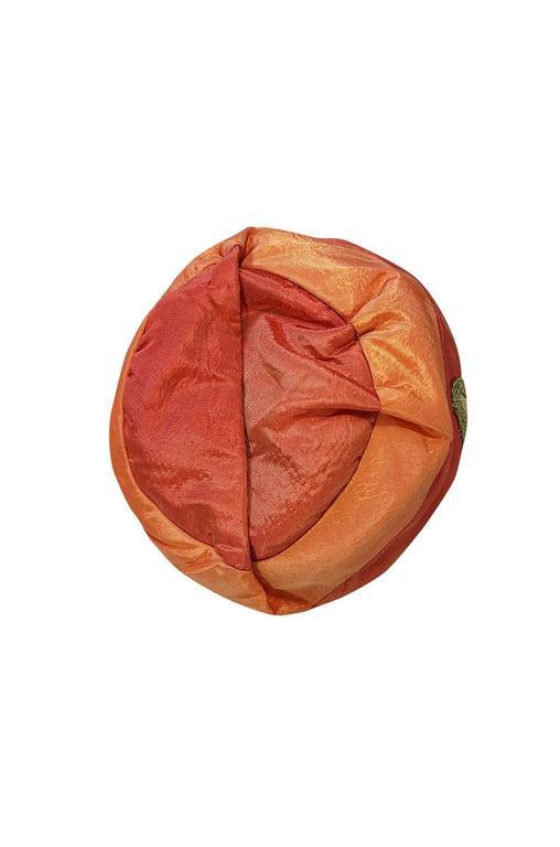 1920s Peach & Coral Silk Floral Applique Flapper Cloche Hat 6