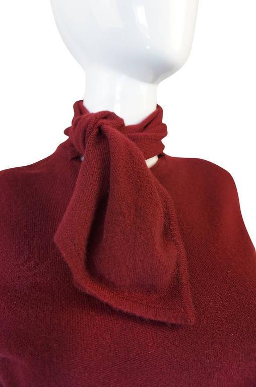 1980s Burgundy 100% Scottish Cashmere Chanel Sweater 5