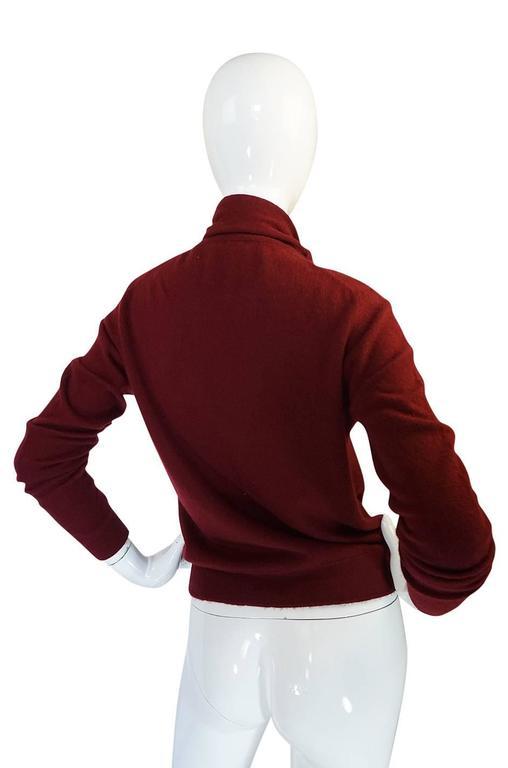 1980s Burgundy 100% Scottish Cashmere Chanel Sweater 2