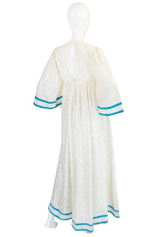 c1968-1970 Embroidered Thea Porter Silk Caftan 'Faye' Dress 2