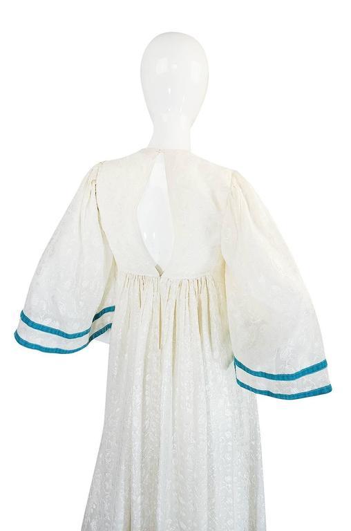 c1968-1970 Embroidered Thea Porter Silk Caftan 'Faye' Dress 5