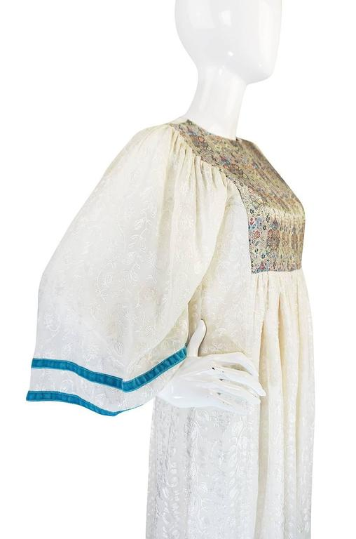 c1968-1970 Embroidered Thea Porter Silk Caftan 'Faye' Dress 6