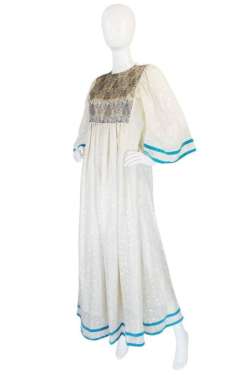 c1968-1970 Embroidered Thea Porter Silk Caftan 'Faye' Dress 3