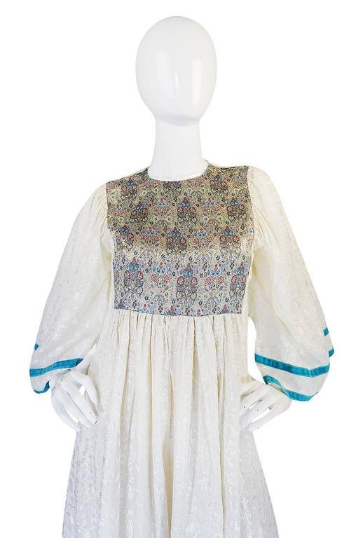 c1968-1970 Embroidered Thea Porter Silk Caftan 'Faye' Dress 4