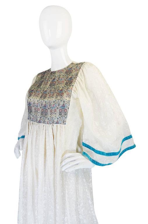 c1968-1970 Embroidered Thea Porter Silk Caftan 'Faye' Dress 8
