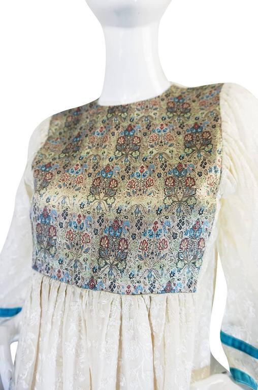 c1968-1970 Embroidered Thea Porter Silk Caftan 'Faye' Dress 7