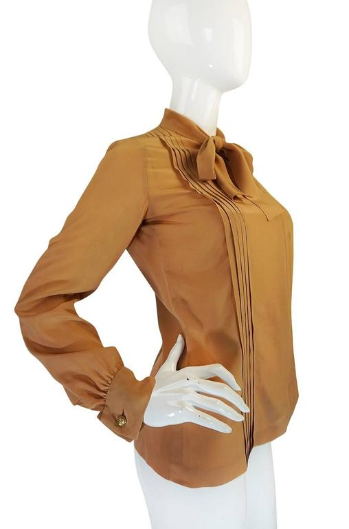 1970s Chanel Numbered True Haute Couture Silk Top In Excellent Condition For Sale In Toronto, ON