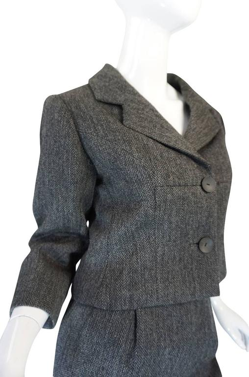 1958 Balenciaga Numbered True Haute Couture Grey Suit 5
