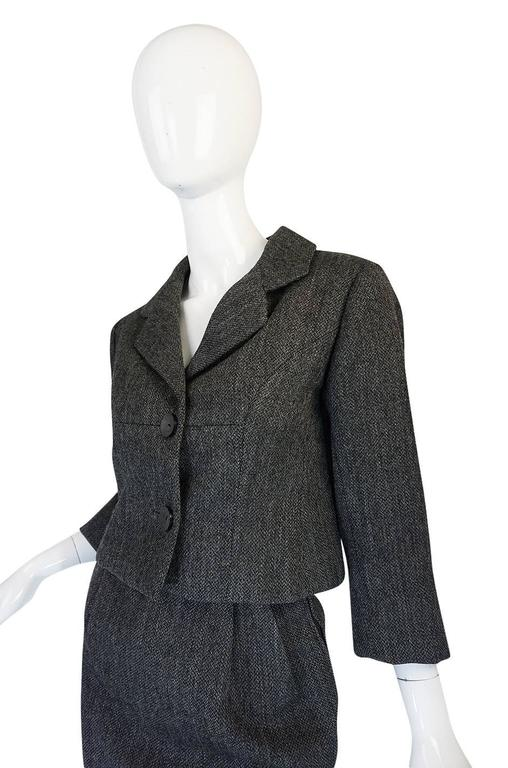 1958 Balenciaga Numbered True Haute Couture Grey Suit 6