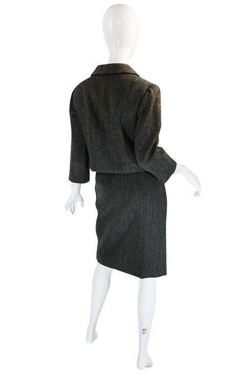 1958 Balenciaga Numbered True Haute Couture Grey Suit 2