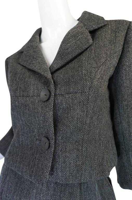 1958 Balenciaga Numbered True Haute Couture Grey Suit 7