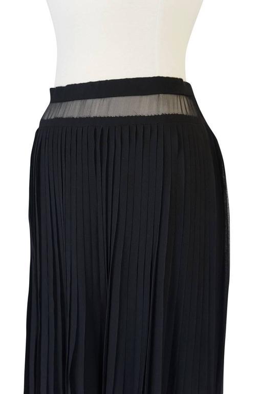 1970s Christian Dior Haute Couture Black Silk Chiffon Skirt For Sale 2