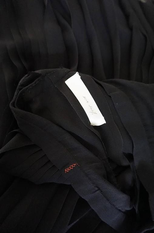1970s Christian Dior Haute Couture Black Silk Chiffon Skirt For Sale 4
