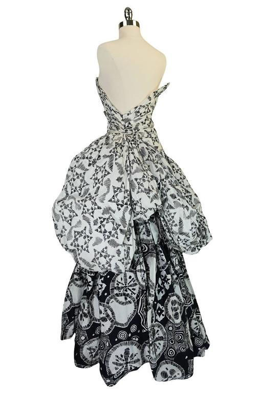 Mid 60s Early 1970s Louis Feraud Couture Cotton Ball Gown
