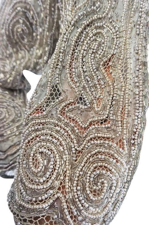 c1981 Documented Halston Couture Beaded & Pearl Jacket 7