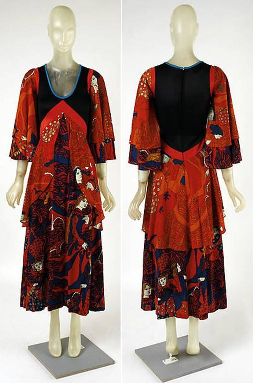 Museum Held F/W 1971 Giorgio di Sant'Angelo Medieval Dress For Sale 5