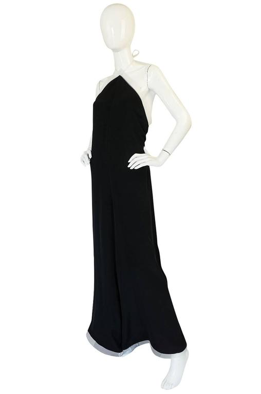 1970s Geoffrey Beene Couture Backless Jumpsuit & Jacket 3