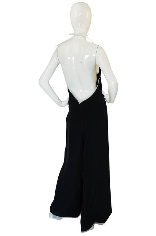 1970s Geoffrey Beene Couture Backless Jumpsuit & Jacket 4