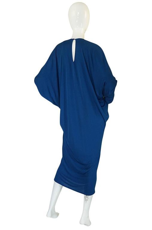 1980s OMO Norma Kamali Jersey Dramatic Sleeved Dress 5