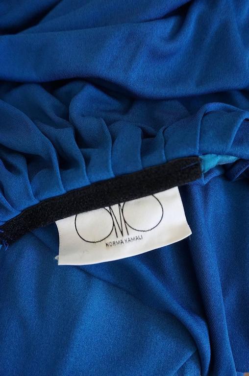 1980s OMO Norma Kamali Jersey Dramatic Sleeved Dress 10